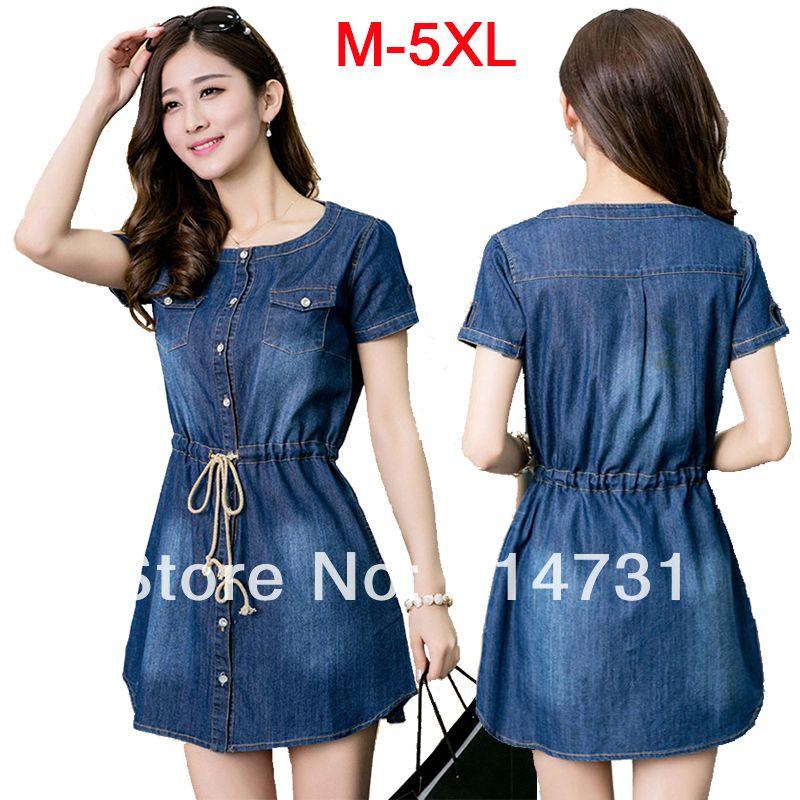 XXXXXL Denim Jeans Dress for Summer Wear Big Size Women Clothes Plus Size  Women s Clothing 5XL 4XL XXXXL XXXL XL New 2014 Spring 2daf553dd