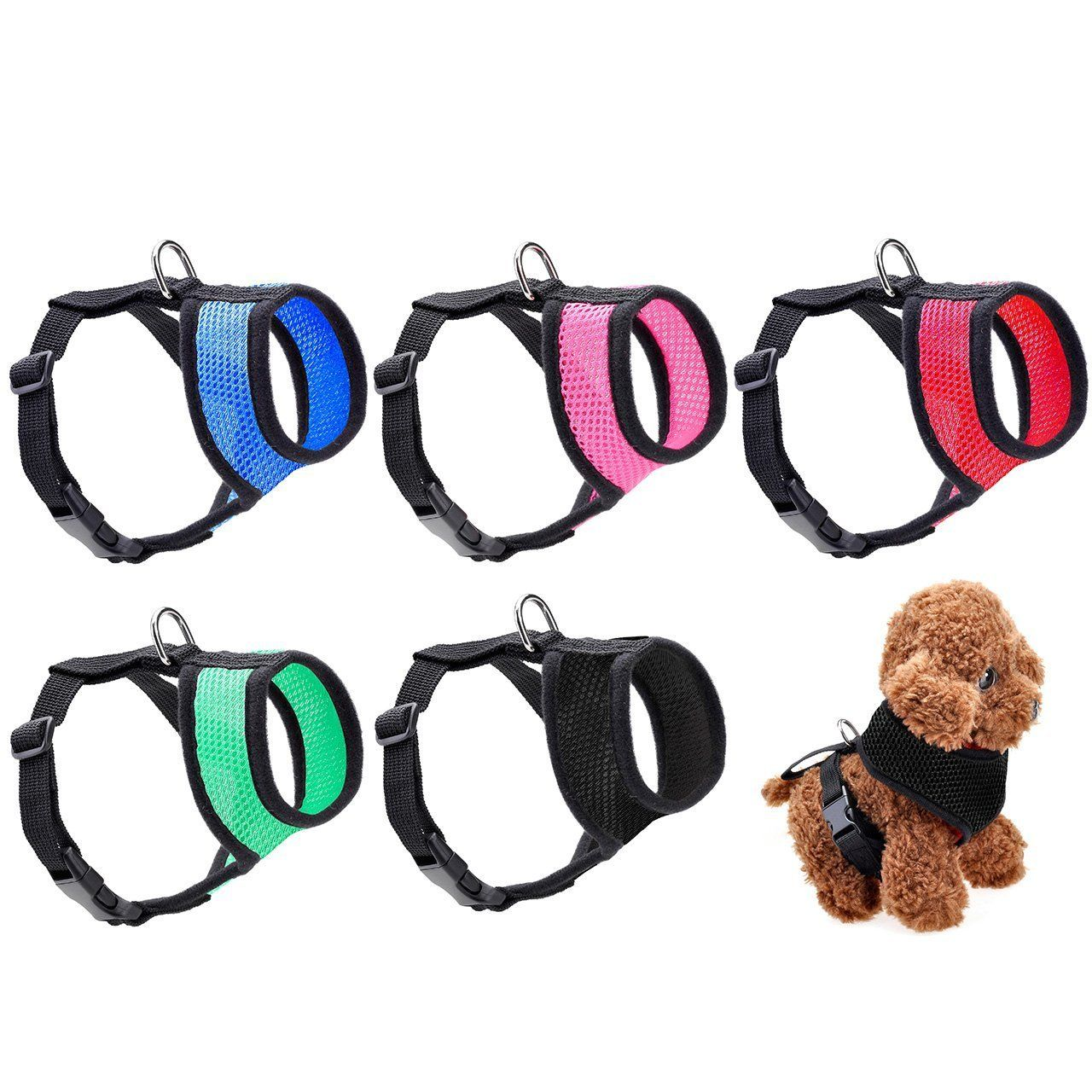 Yoption Dog Collar Harness Cat Pet Safe Padded Vest Easy Soft Walking Harness No Pull Tug Free Or Choking Service Vehicle Seatbe Pet Safe Pet Bag Dog Harness