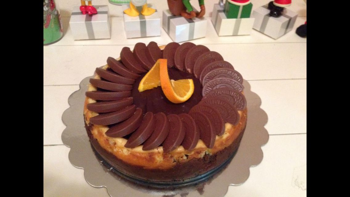 Orange Chocolate Cheesecake With Terry S Oranges On Top