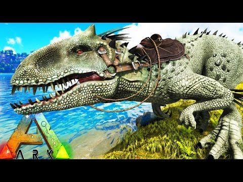 Ark Survival Evolved Indominus Rex Taming Vs T Rex Vs