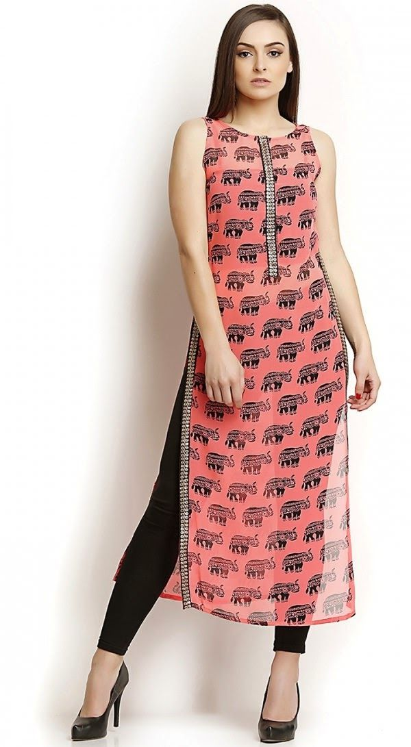 Straight/Pakistani style Kurti with Jeans. Read more http ...