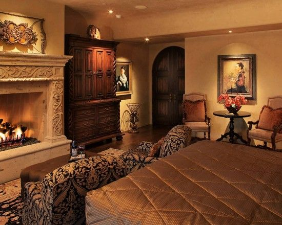 Wonderful Fireplaces In The Dining Room For Cozy And Warm: Bess Jones Interiors Brown Bronze Earthy Old World Master