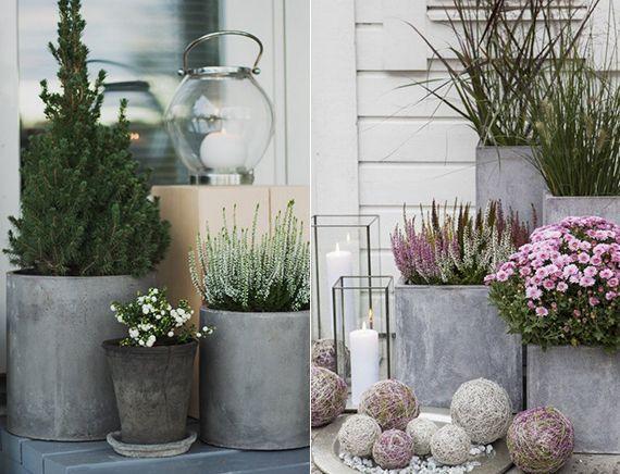 Moderne und inspirierende Gartendeko aus Beton - #aus #Beton #Gartendeko #inspirierende #moderne #und #dekoeingangsbereichaussen