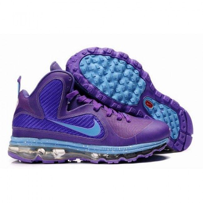 Elite Lebron James 9 x Air Max Fusion Men Basketball Shoes Purple/Blue 1004  For