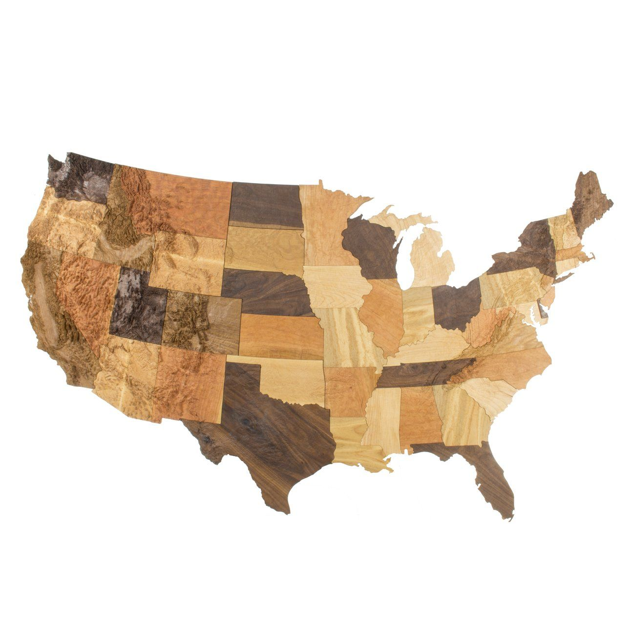 Maker of beautiful 3d carved wooden topographic maps of the United ...