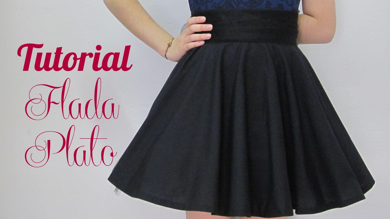 dd905b9c9 Falda Circular Plato | Como hacer Faldas | Hacer falda, Hacer falda ...