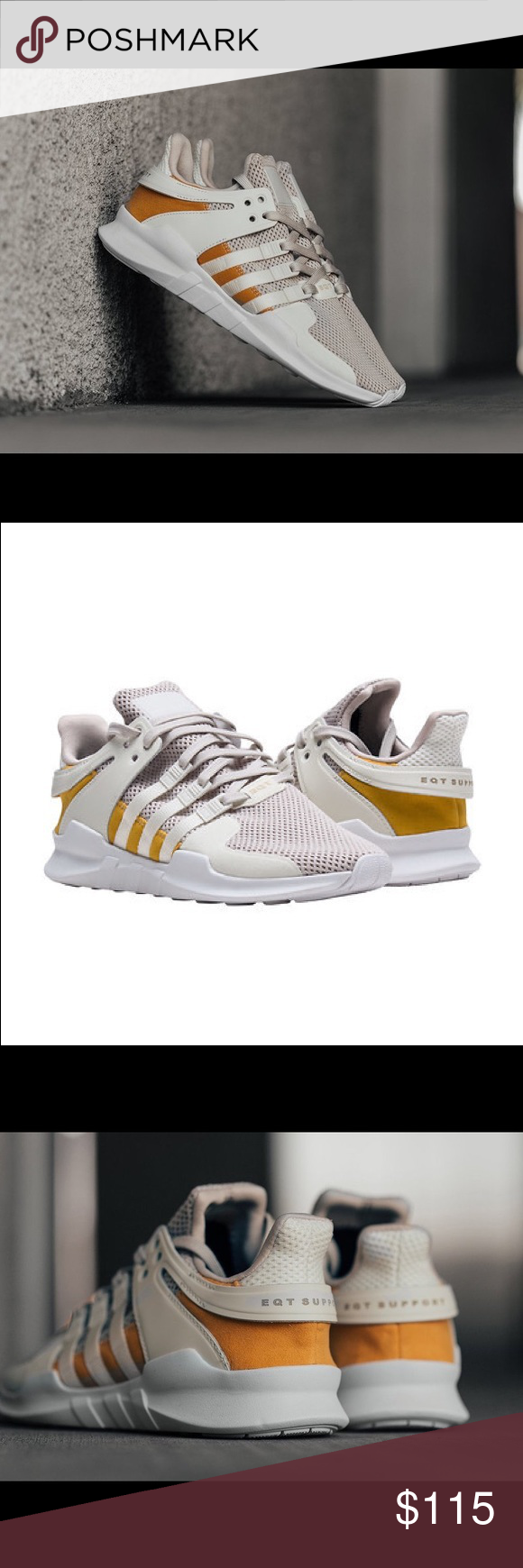 online store a06a5 70f5d Adidas EQT Support ADV Off-WhiteTactile Yellow Brand new! No box Adidas