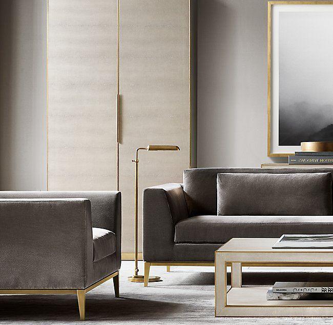 italia taper arm fabric sofa lobby pinterest living room room rh pinterest com