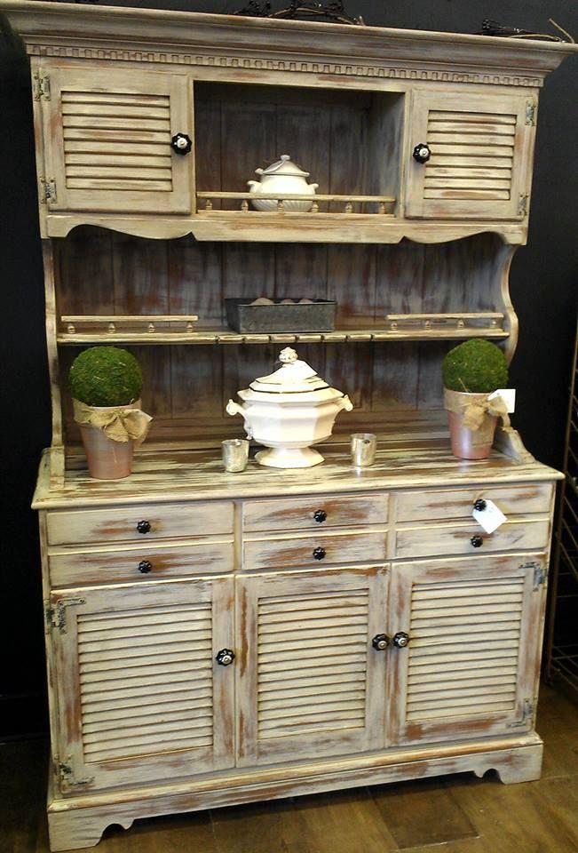 ... Ethan Allen Hutch Painted With Maison Blanche Paint Co S Maison