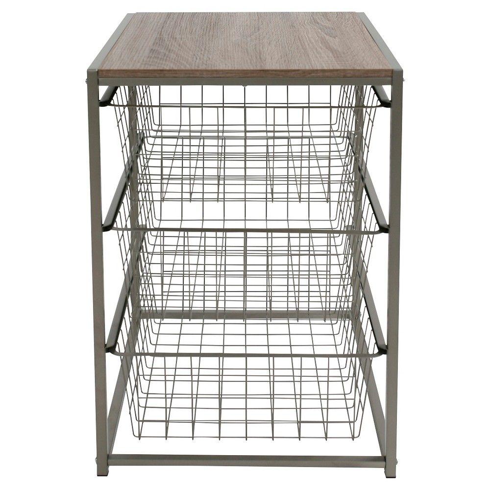 3 Drawer Closet Organizer Grey Birch Threshold
