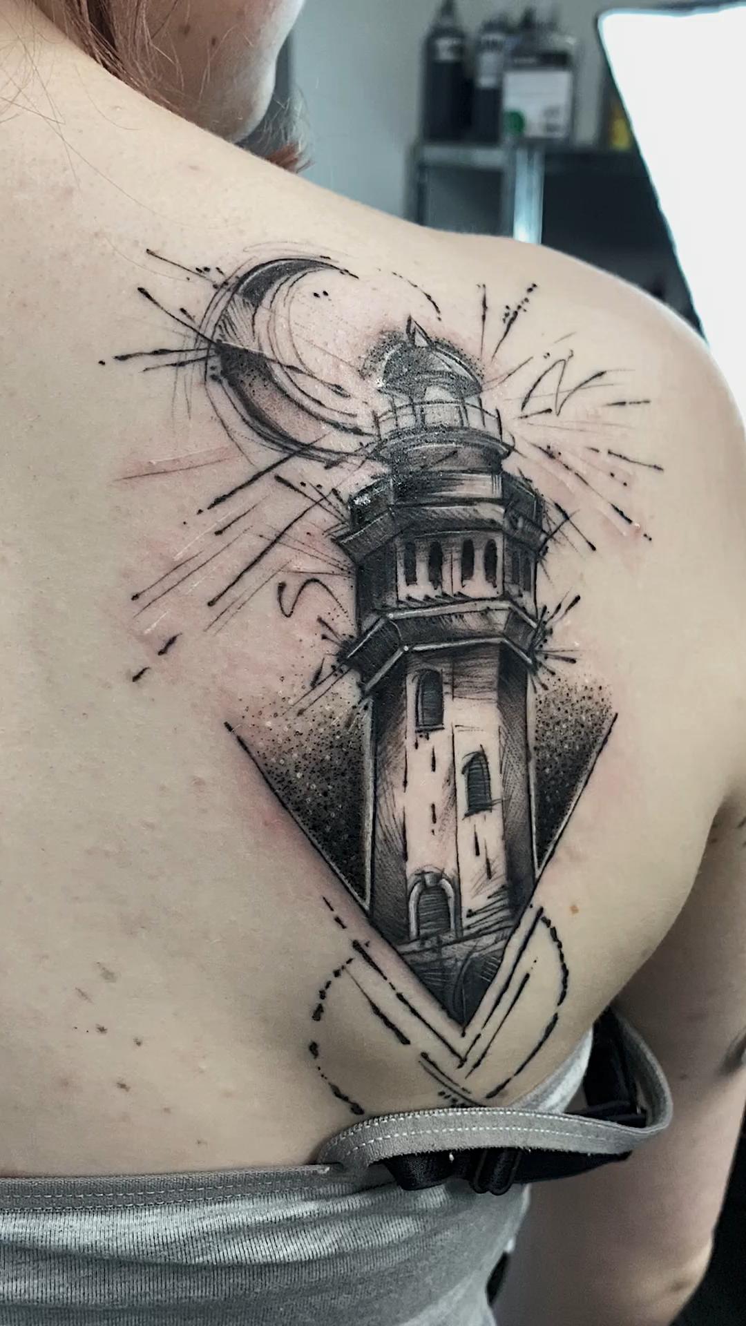 Lighthouse Tattoo Lighthouse Tattoo Tatuajes Creativos Tatuajes De Faro Tatuaje Del Faro