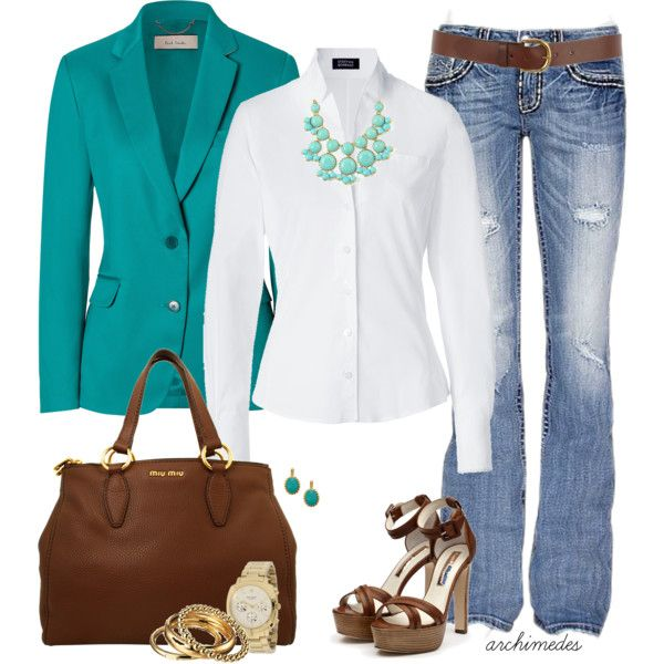"""A Bit of Turquoise"" by archimedes16 on Polyvore"