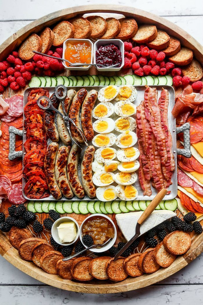Epic Grilled Breakfast Charcuterie Board - Reluctant Entertainer