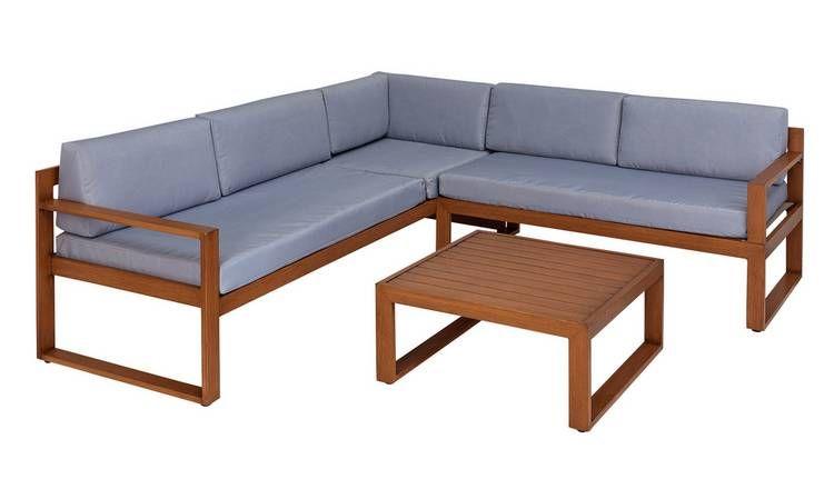 Buy Argos Home 5 Seater Aluminium Corner Sofa Set Garden Table And Chair Sets Argos Corner Sofa Set Sofa Set Argos Home