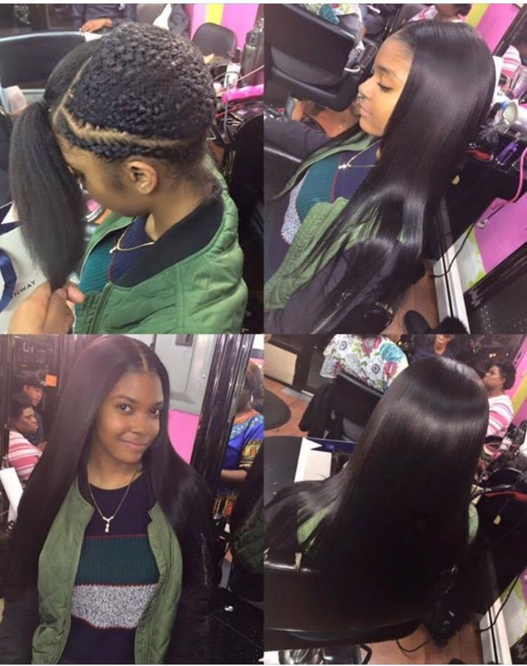 Hair Straight And Weave Image