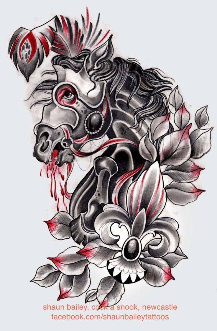 Red And Black Tattoo Flash Google Search Trash Polka Tattoos