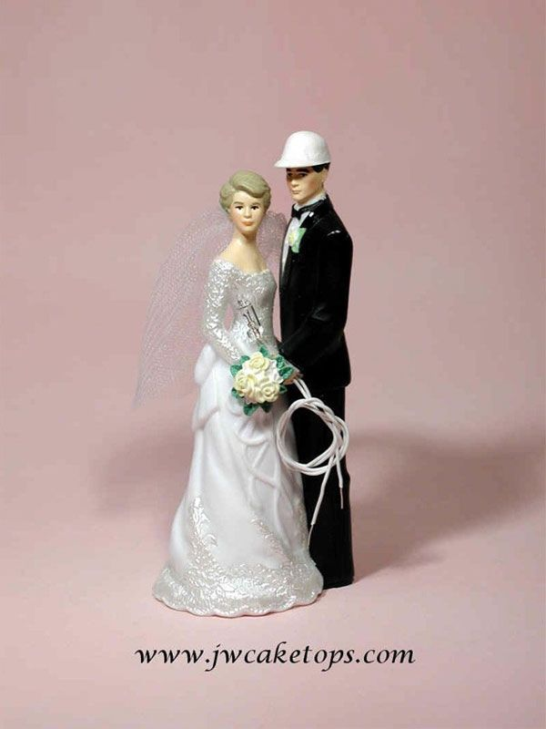 210b133e50 Our Day Electrician Groom Wedding Cake Topper | Occupations Wedding ...