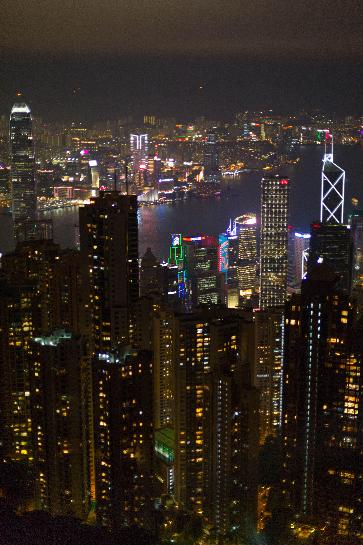 Night View Victoria Peak Hong Kong Hong Kong Asia Travel Macau