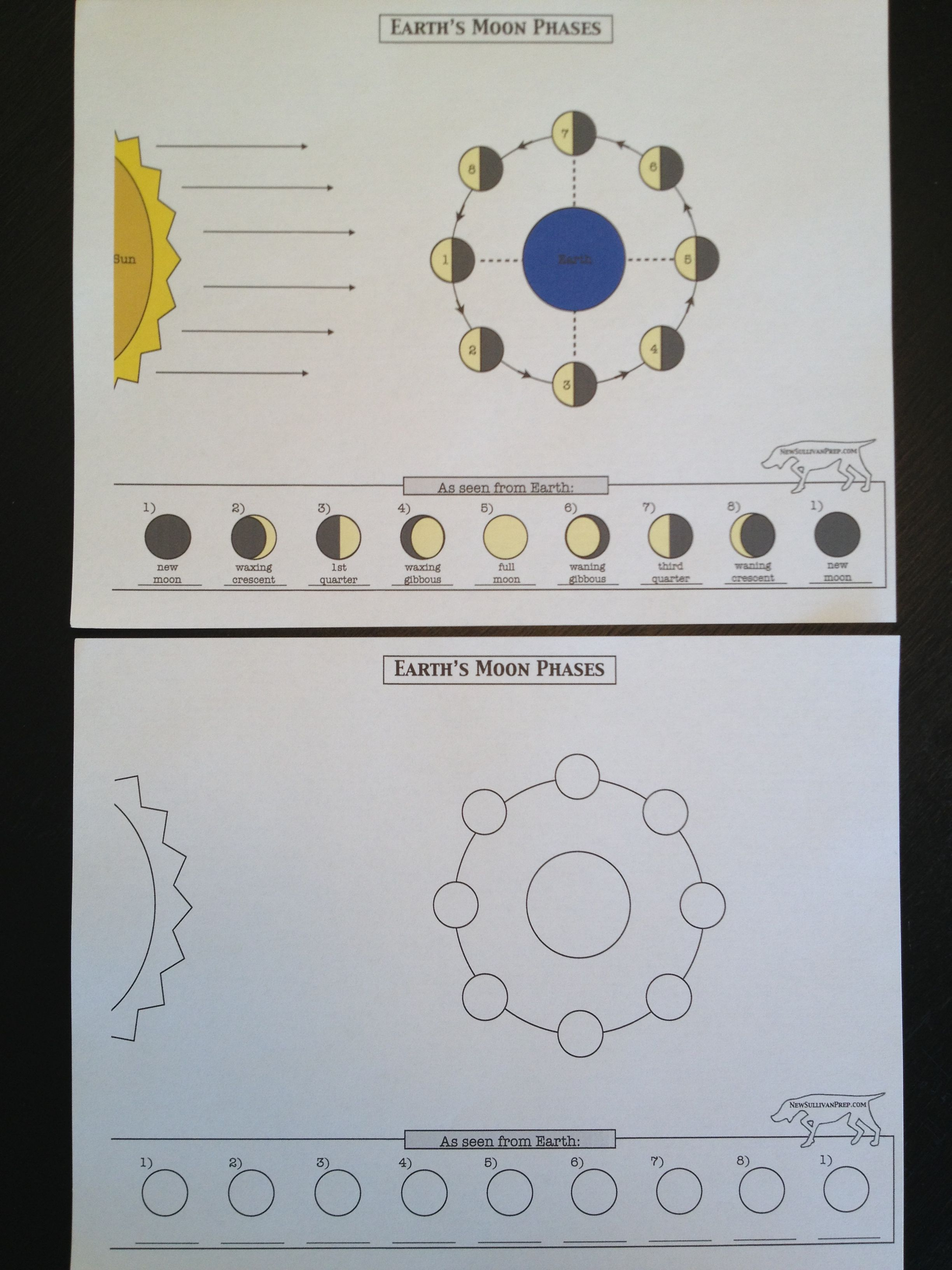 Free Moon Phases Worksheets From Newsullivanprep