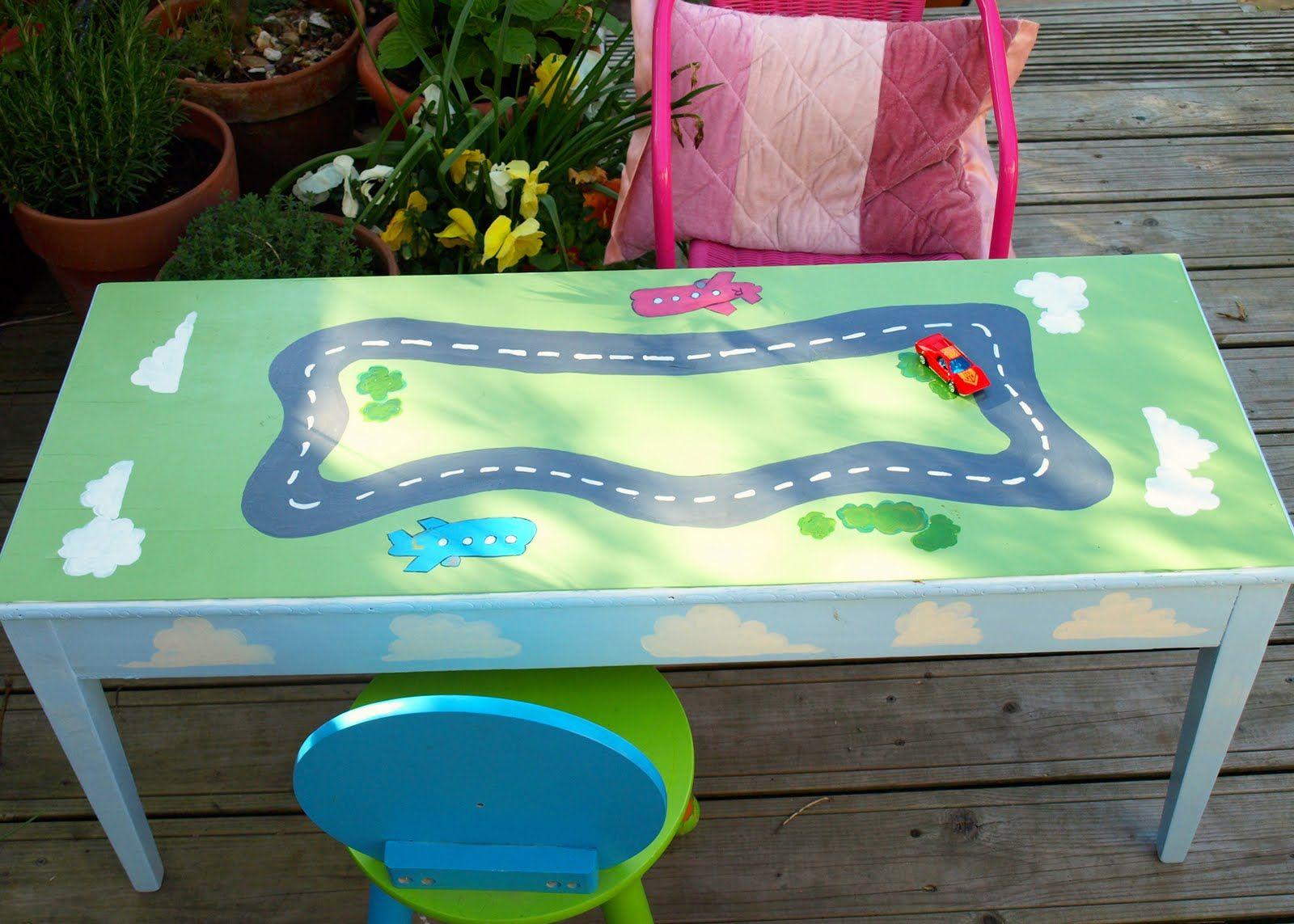 Kiddie car table