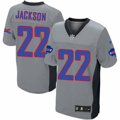 Men\u0027s Nike NFL Buffalo Bills #22 Fred Jackson Elite Grey Shadow - Equipment Bill Of Sale