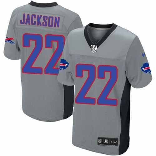 mens nike nfl buffalo bills 22 fred jackson elite grey shadow jersey 129.99