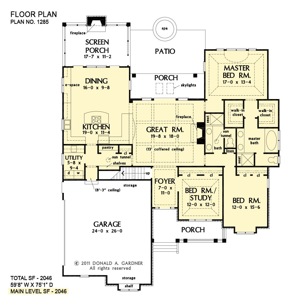Home Plan The Marley By Donald A Gardner Architects In