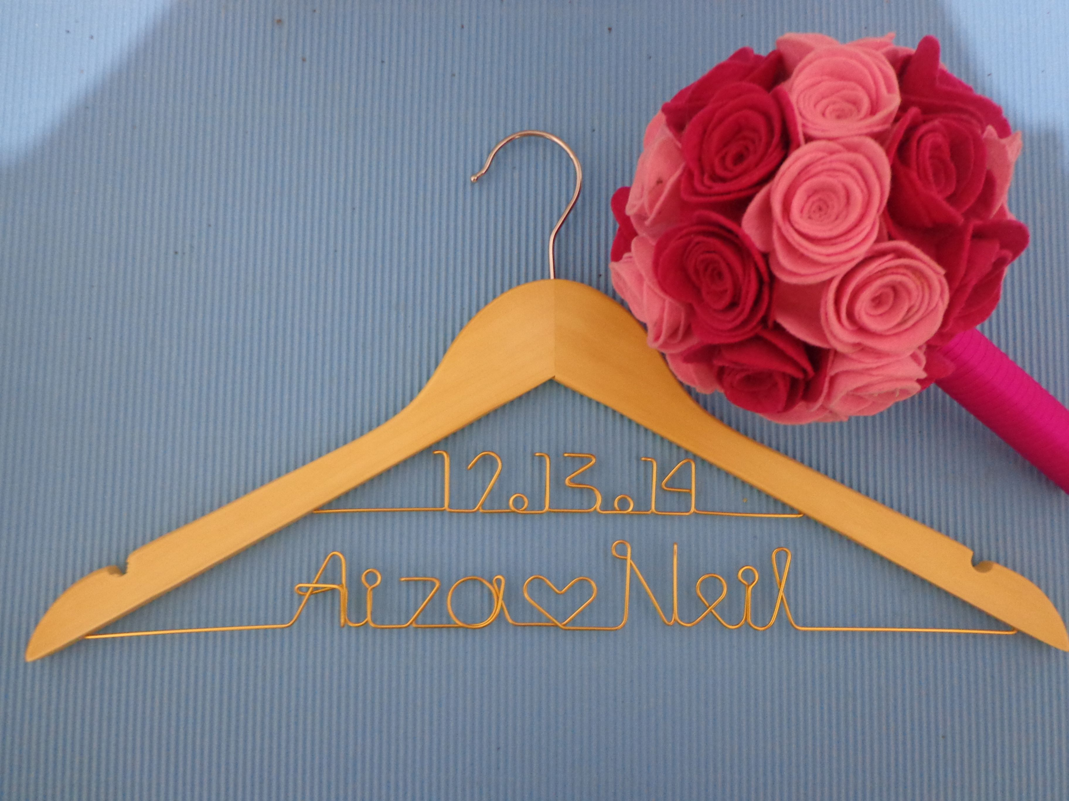 customized wire hanger