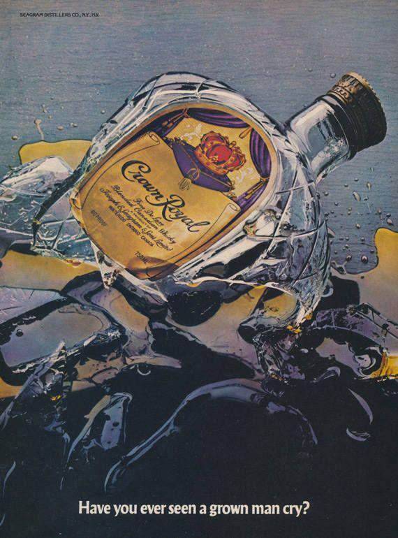 Crown Royal Whiskey Vintage Advertisement Shattered Liquor Bottle Photo Print Ad Retro Bar Art Wall Decor Gi Crown Royal Whiskey Crown Royal Crown Royal Bottle Vector king, queen, prince, princess attributes. crown royal whiskey vintage