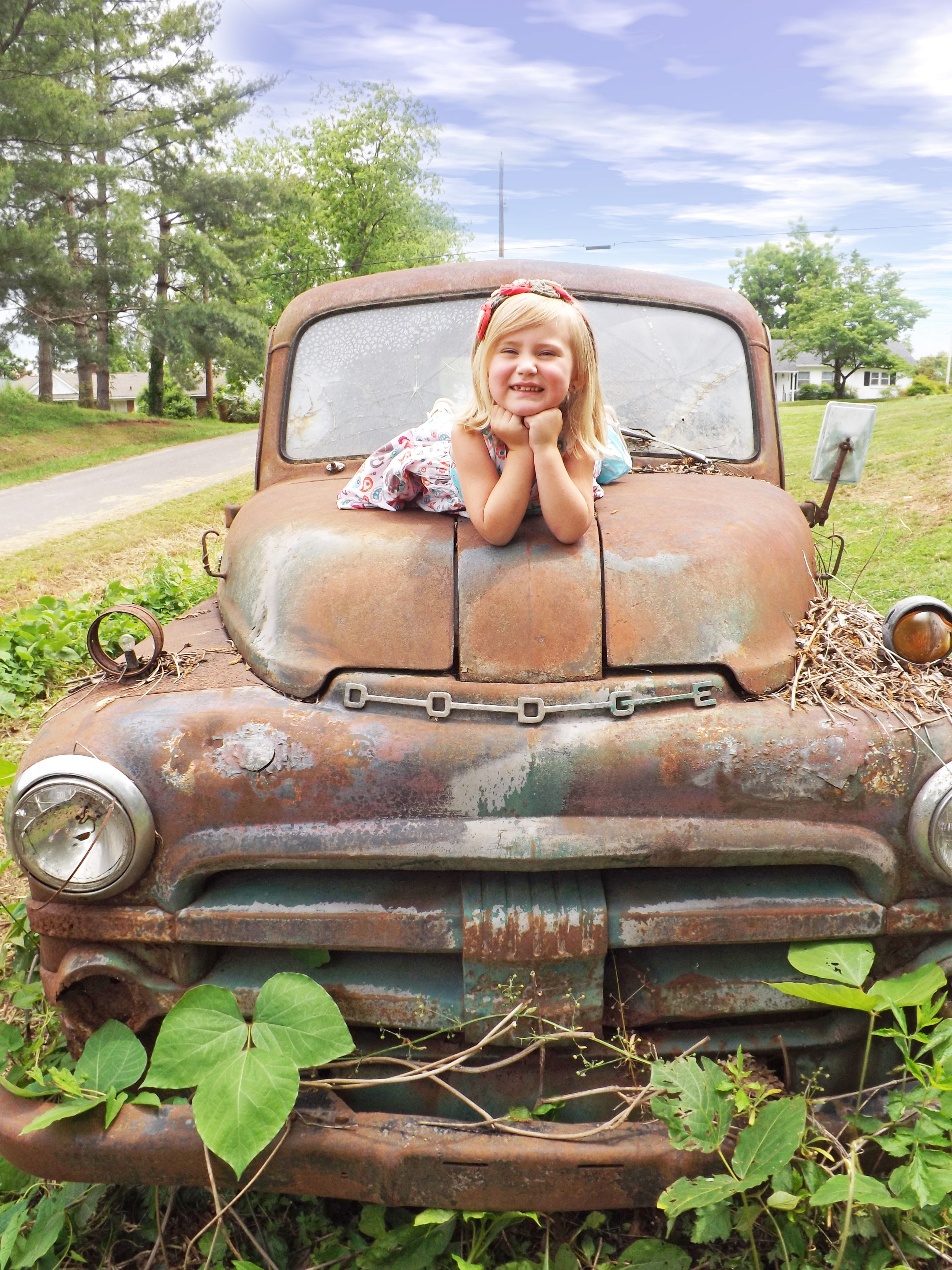 Old Truck Little Country Girl With Images Country Trucks Old