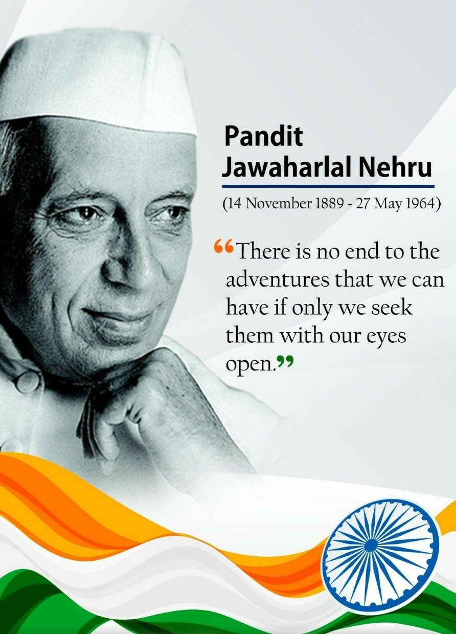First Prime Minister of India Pt. Jawaharlal Nehru