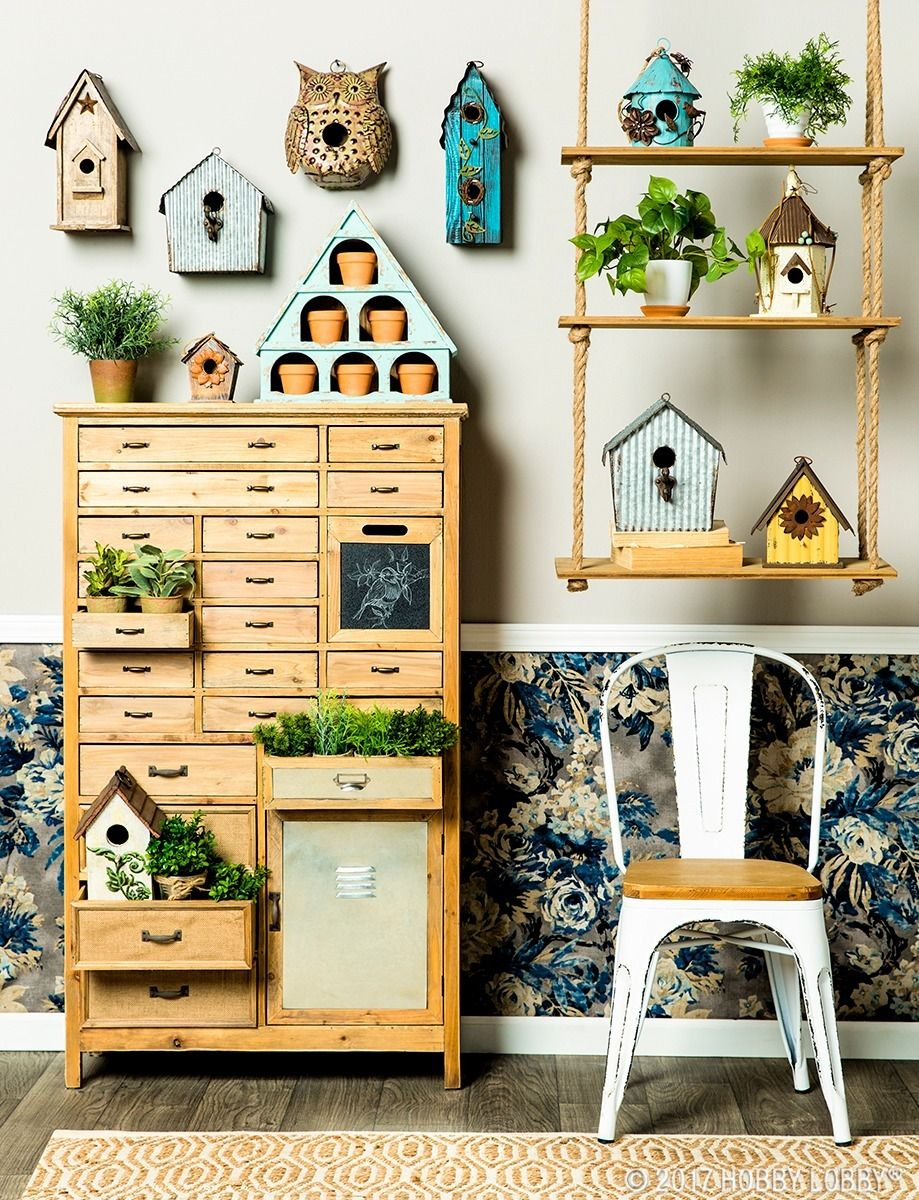 Get creative with your space! These birdhouses make darling indoor ...