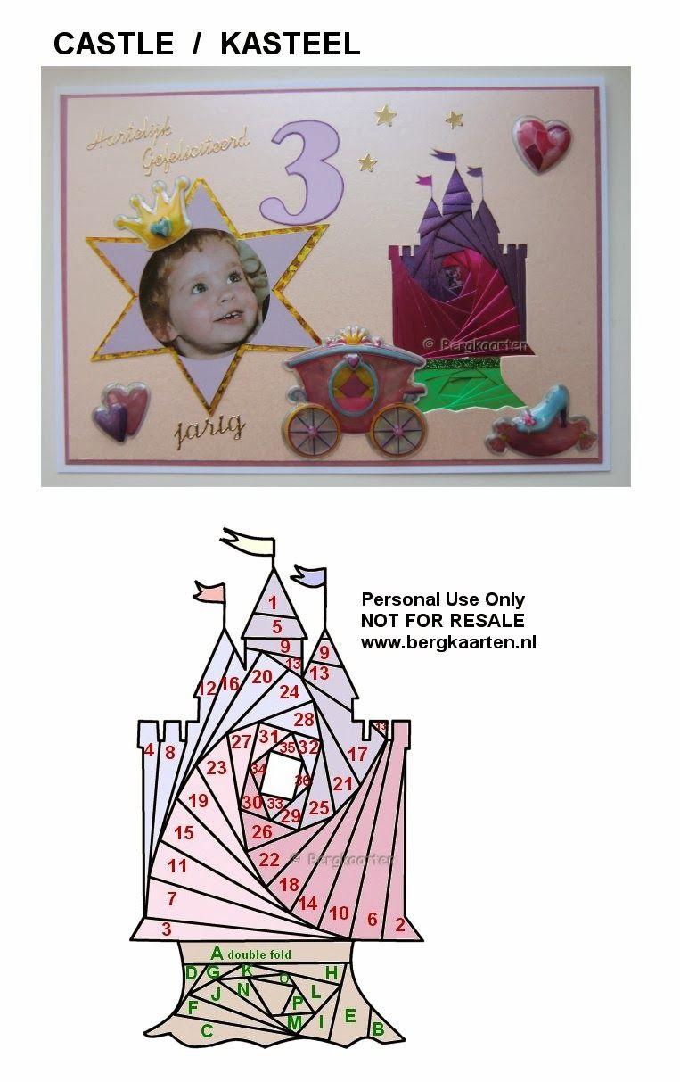 ** Iris Folding Princess Baby Castle Card @bergkaarten