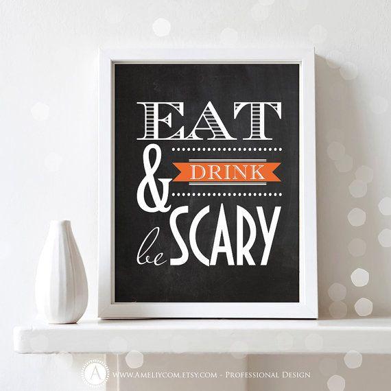 Printable Halloween Decor DIY Print Poster INSTANT by AmeliyCom