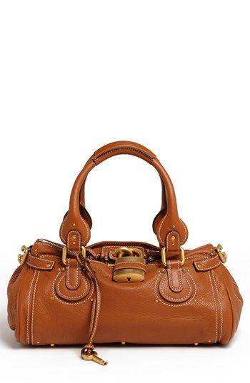 c0f08603a210d  2,195, Tobacco Leather Satchel Bag  Chloé Chloe Paddington Leather Satchel  Tan. Sold by Nordstrom.