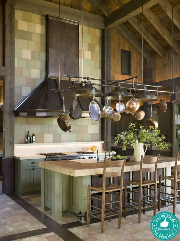 une maison naturelle et chaleureuse dans la vall e de napa avec sa cuisine authentique aux. Black Bedroom Furniture Sets. Home Design Ideas