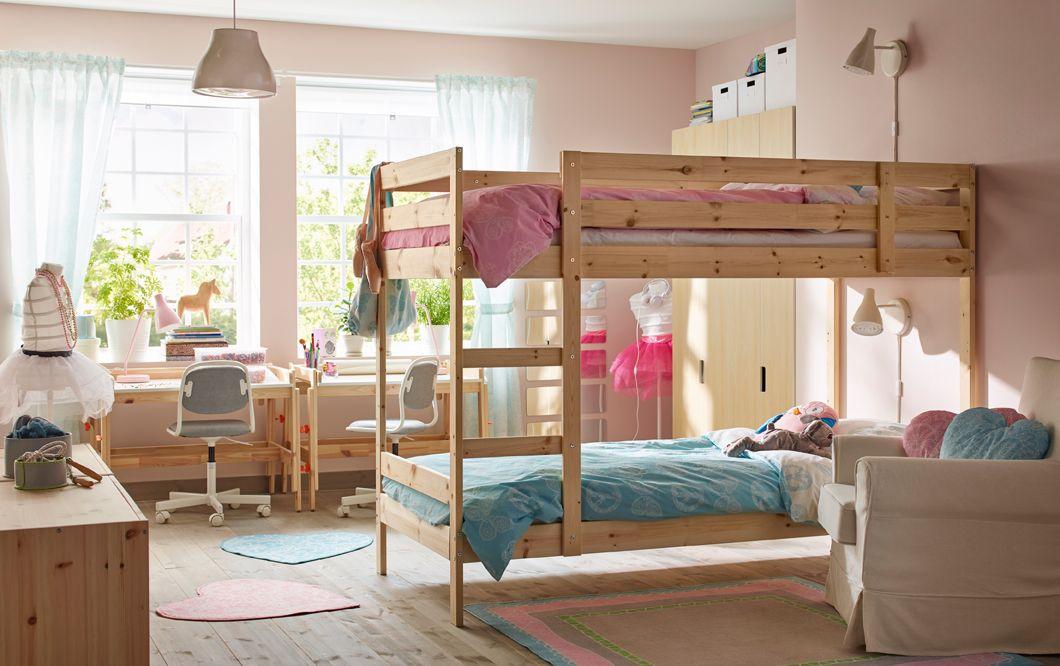 Cameretta con letto a castello in pino – IKEA | IKEA Style ...