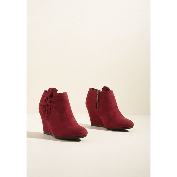 03b1b4da308f Knot a Moment Too Soon Wedge Bootie (205 BRL) ❤ liked on Polyvore featuring