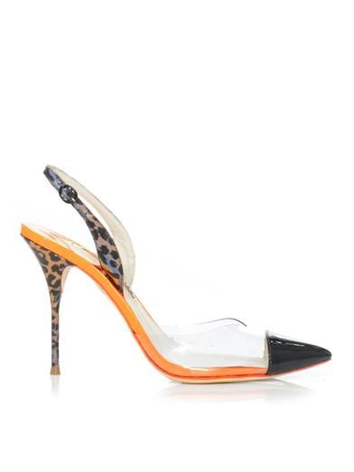 6248fc2d418c Work Sophia Webster s whimsical aesthetic into your shoe collection with  these Daria slingbacks. The combination of PVC