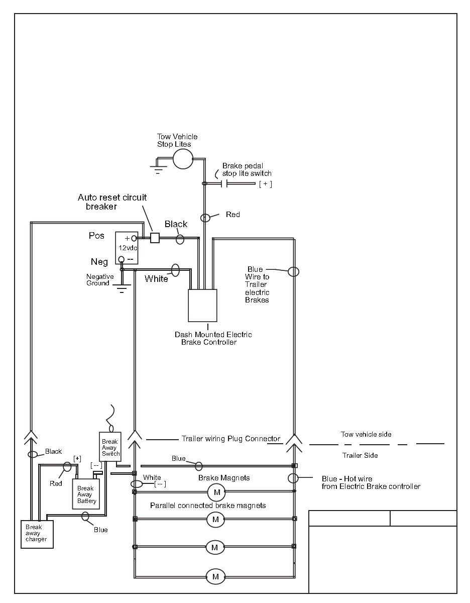 car trailer wiring diagram with electric brakes