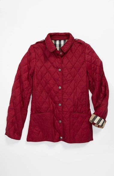 Girl's Burberry 'Mini Pirmont' Quilted Jacket | Jackets, Quilted ... : burberry pirmont quilted jacket - Adamdwight.com