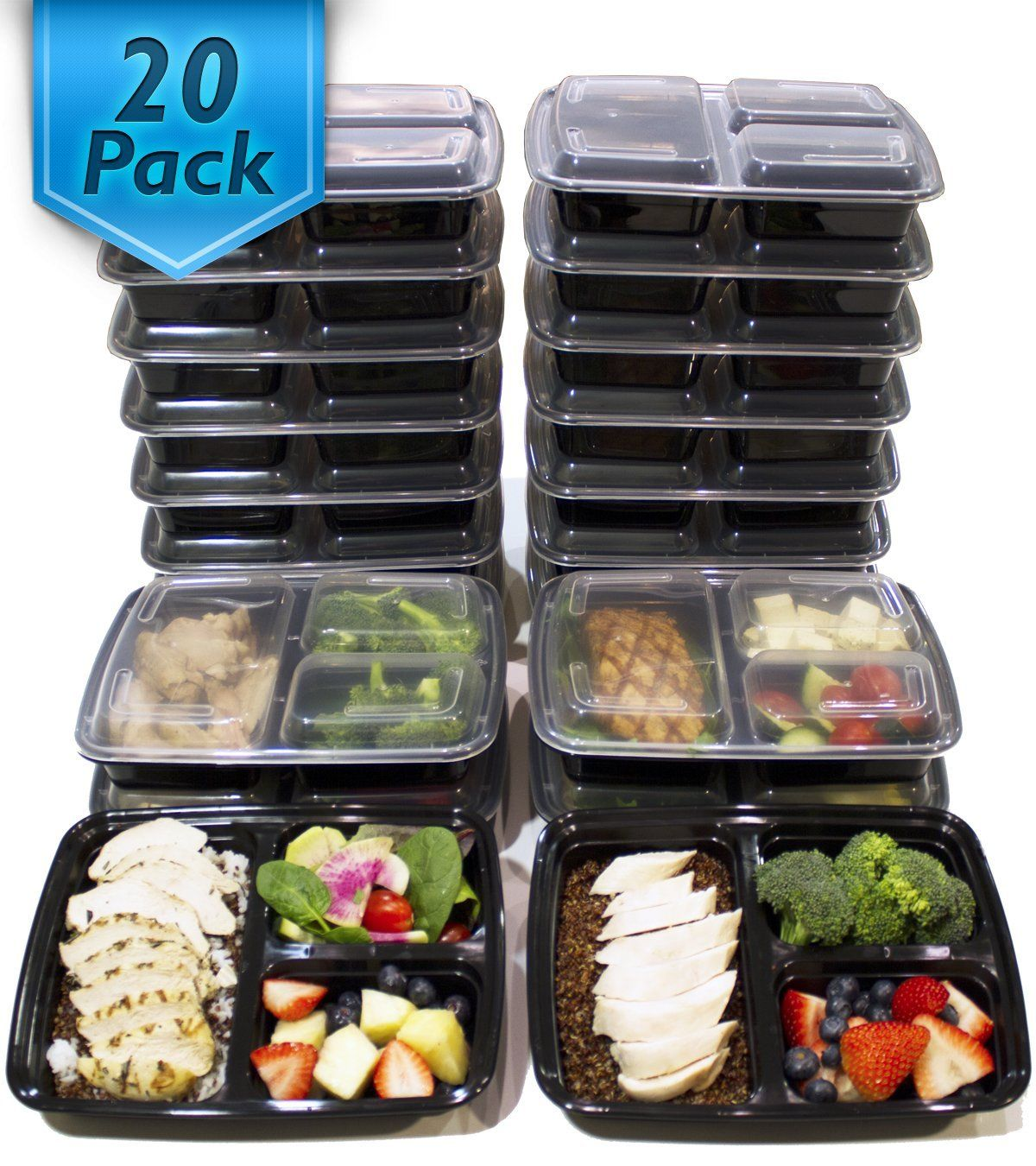 Meal Prep Containers Bento Box Style Healthy Happy Smart