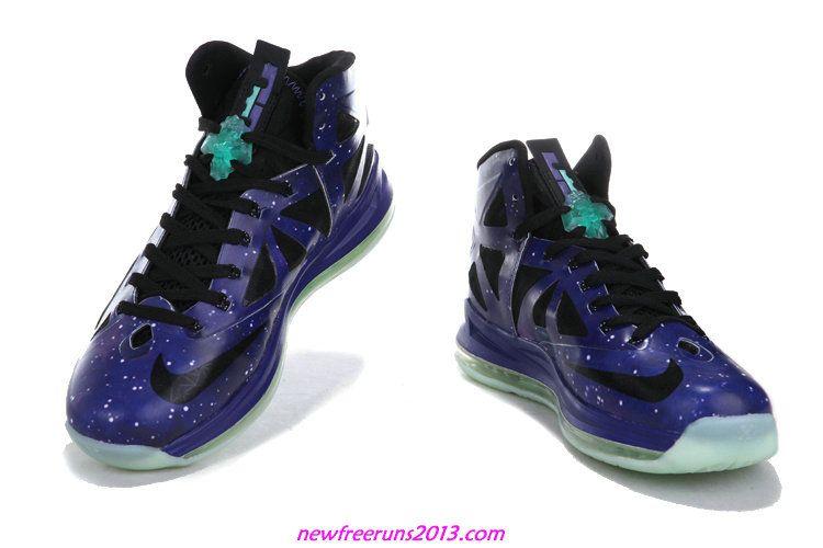 b2c3b400c86 Lebron 10 Lebron James Shoes 2013 Galaxy Glow In The Dark 541100 001 ...
