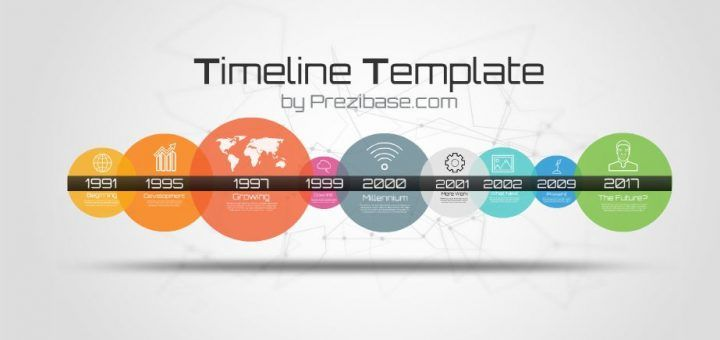 TimelineTemplateCirclesColorfulYearMonthHourTimeTravel