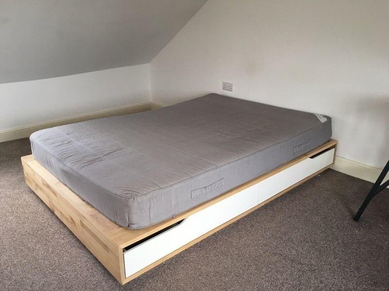 ikea seng 140 Sengeramme, IKEA mandal, b: 140 l: 202 h: 27, IKEA mandal seng med  ikea seng 140