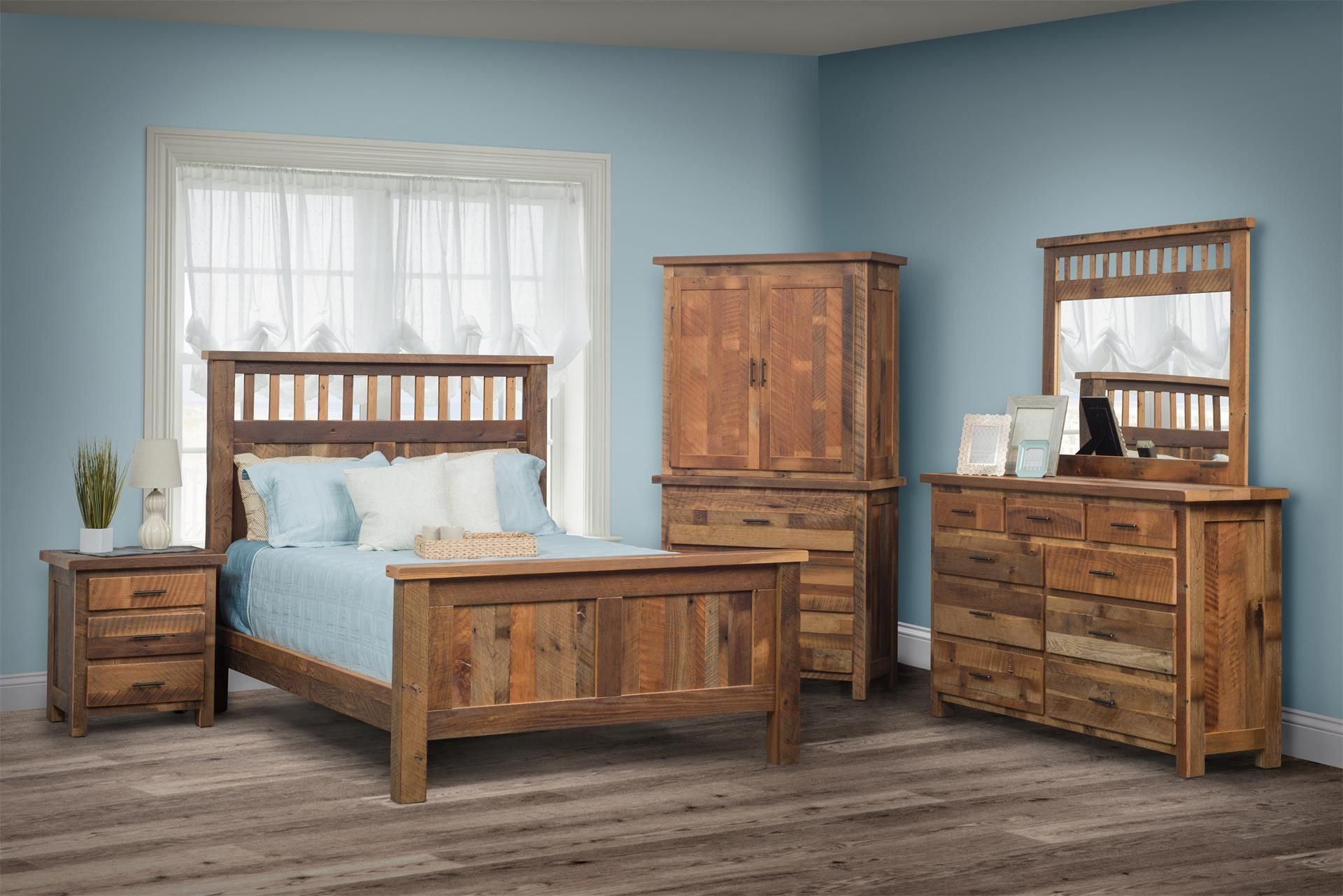 Bring some rustic, eco friendly style into your bedroom