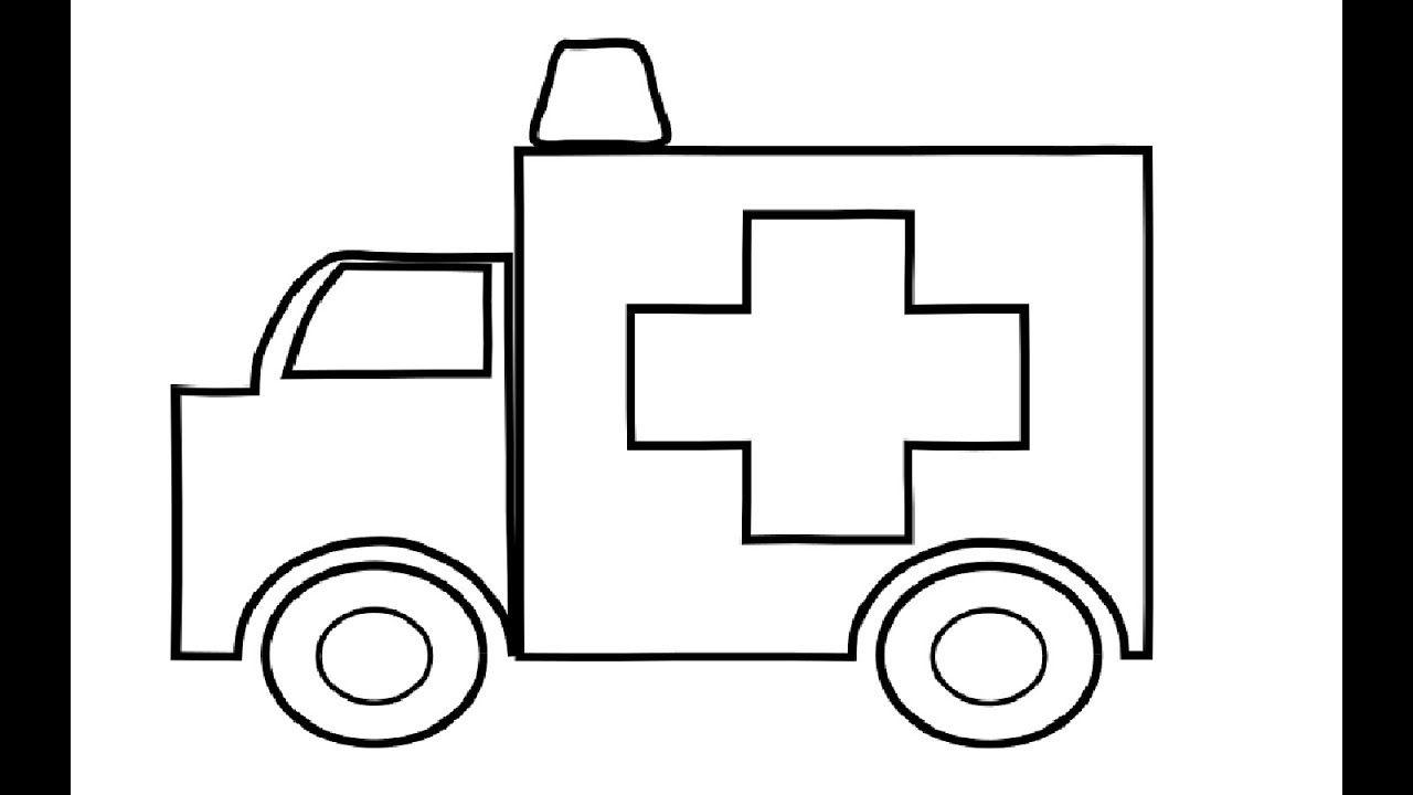 Krankenwagen Malvorlagen für Kinder   Auto Zeichnen und ...