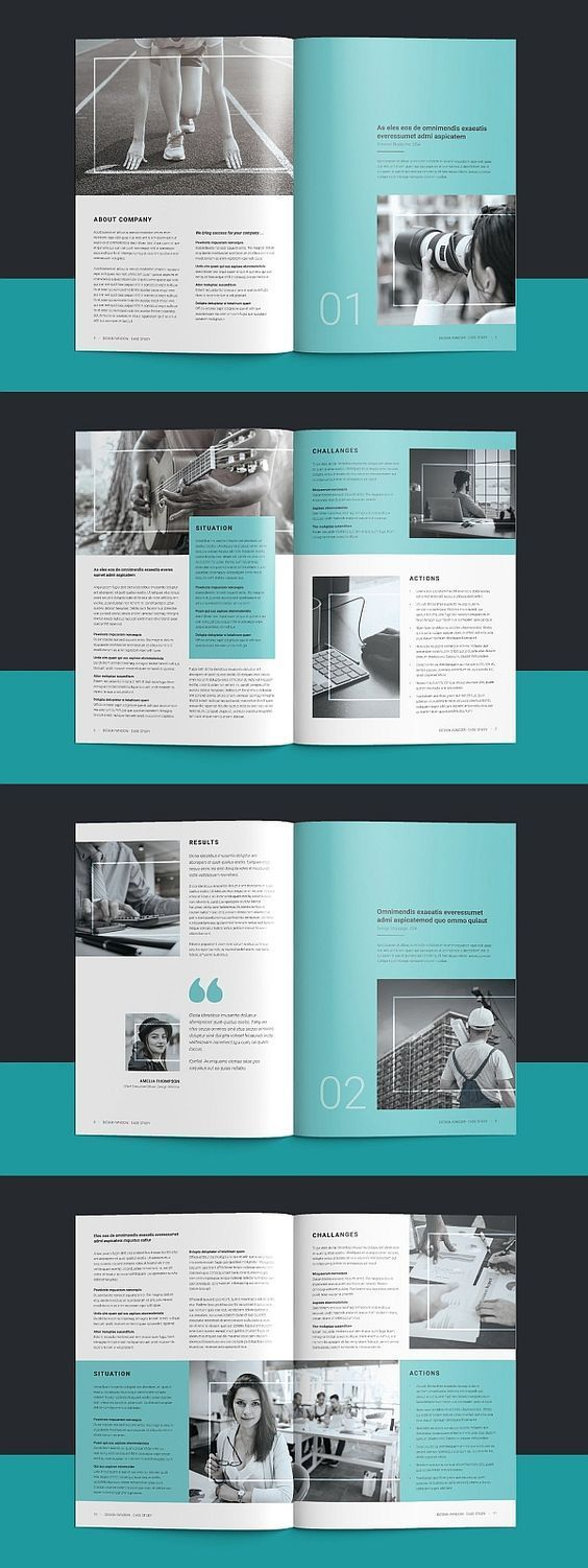 Photo of 2239 Brochure Templates for Free Download Square Portfolio Brochures …