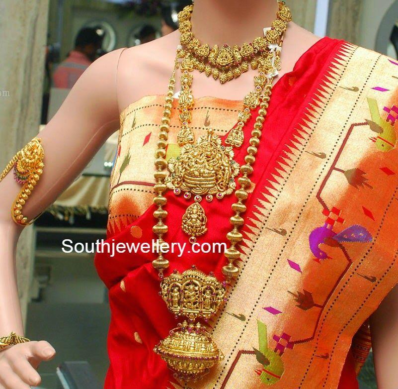 Latest Temple Jewellery Designs | Gold | Pinterest