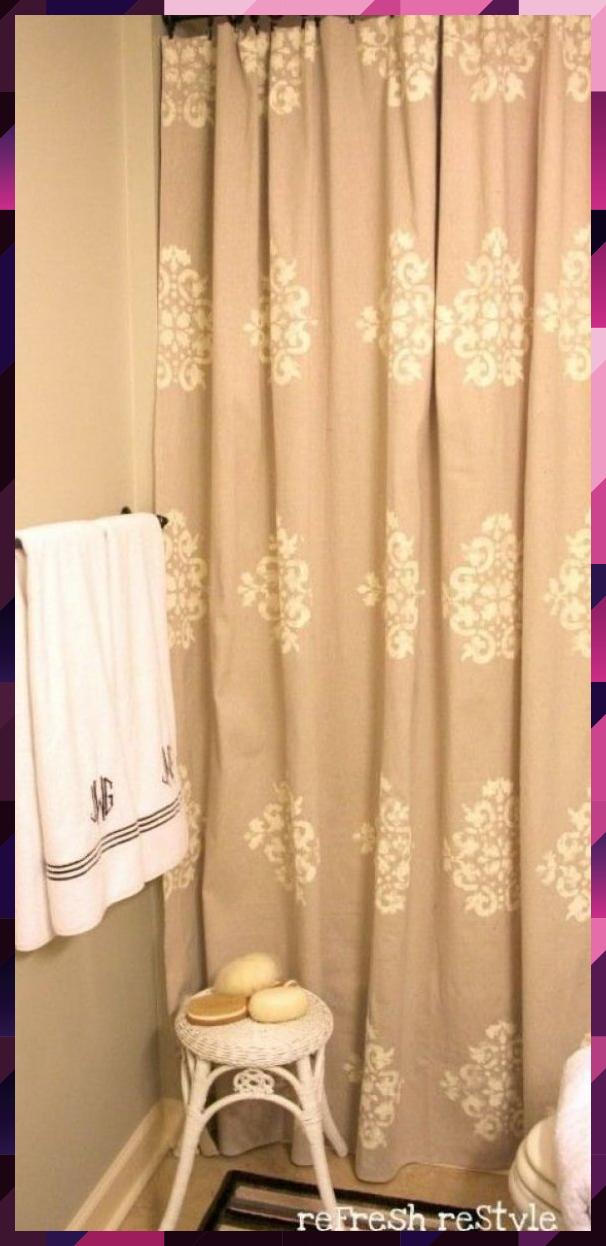 Photo of Bemalter Duschvorhang – Refresh Restyle #Recreationalroom #Recreational #room # …